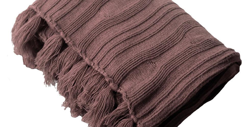 Jumbo Fluff Blanket (Burgundy)
