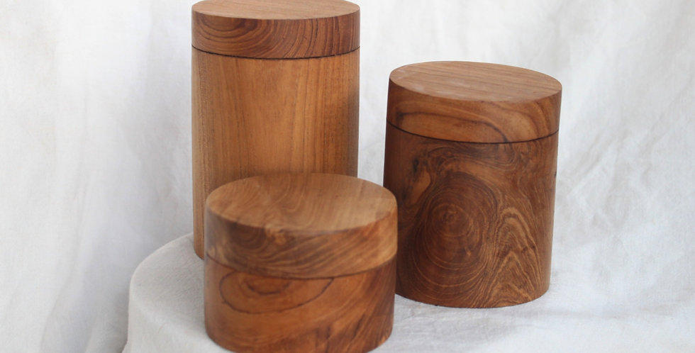 Teak Wood Container (SMALL)