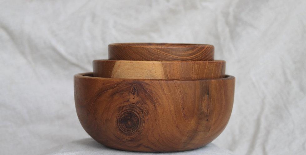 Wooden Bowls Set - (3 Piece)