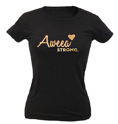 Aweea Strong  Black T-shirt