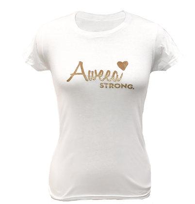 Aweea Strong  White T-shirt
