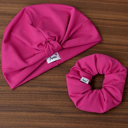 Hot Pink Swim-Workout Turban