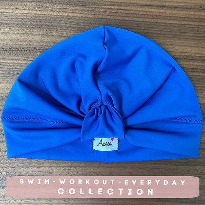 Colbalt Blue Swim-Workout Turban