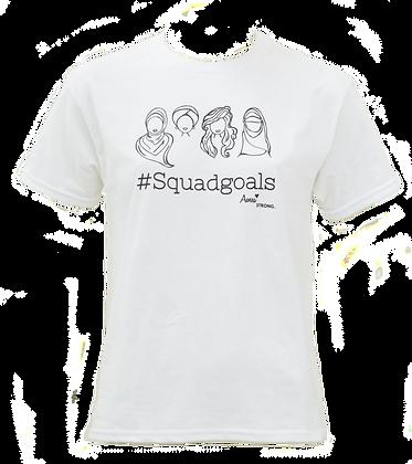 Squadgoals White T-shirt