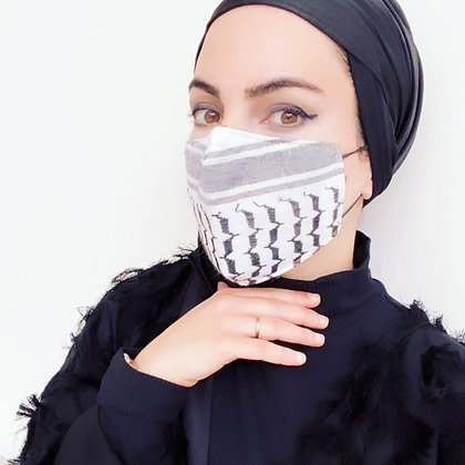 Keffiyeh Zig zag Adult Mask (women)
