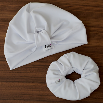 White Swim-Workout Turban