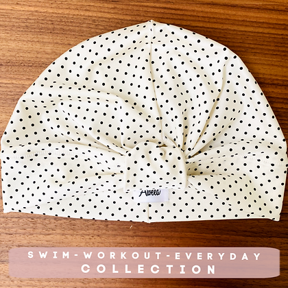 Polka dot Swim-Workout Turban