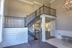 Stairs, Dining Room and Kitchen
