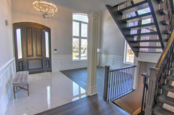 Front Door, Foyer and Stairs