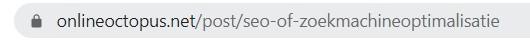 Voorbeeld URL Online Octopus