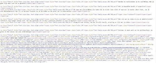Hoe een zoekmachine een website ziet: website code