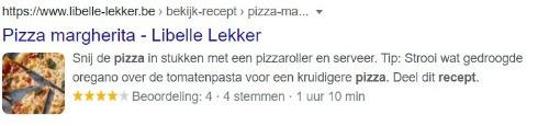 Rich snippet pizza recept