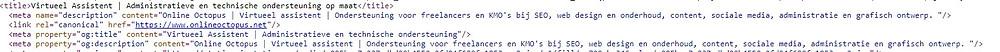 Meta titel en omschrijving in de HTML-code