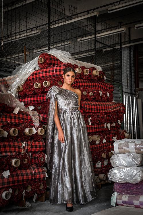 Strieborné MAXI šaty
