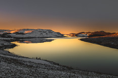 Sunrise over a Shetland voe