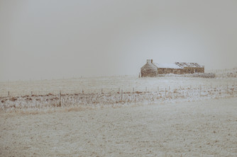Cruaday Cottage in snow