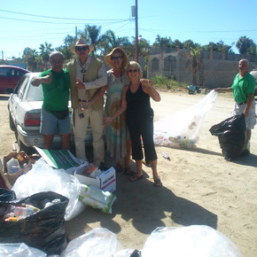 The beginnings: Monthly recycling sessions on the street/sidewalk