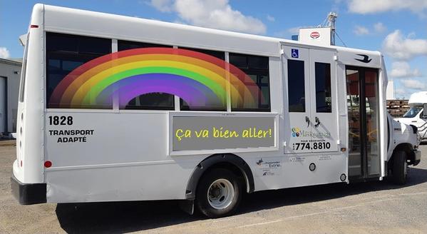 Autobus transport adapté - MRC des Maskoutains - COVID-19