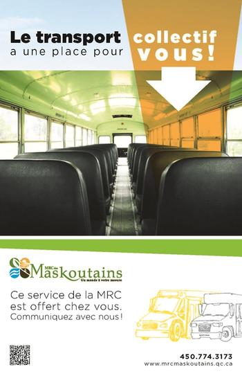 Le transport collectif a une place pour vous - Transport scolaire - MRC des Maskoutains
