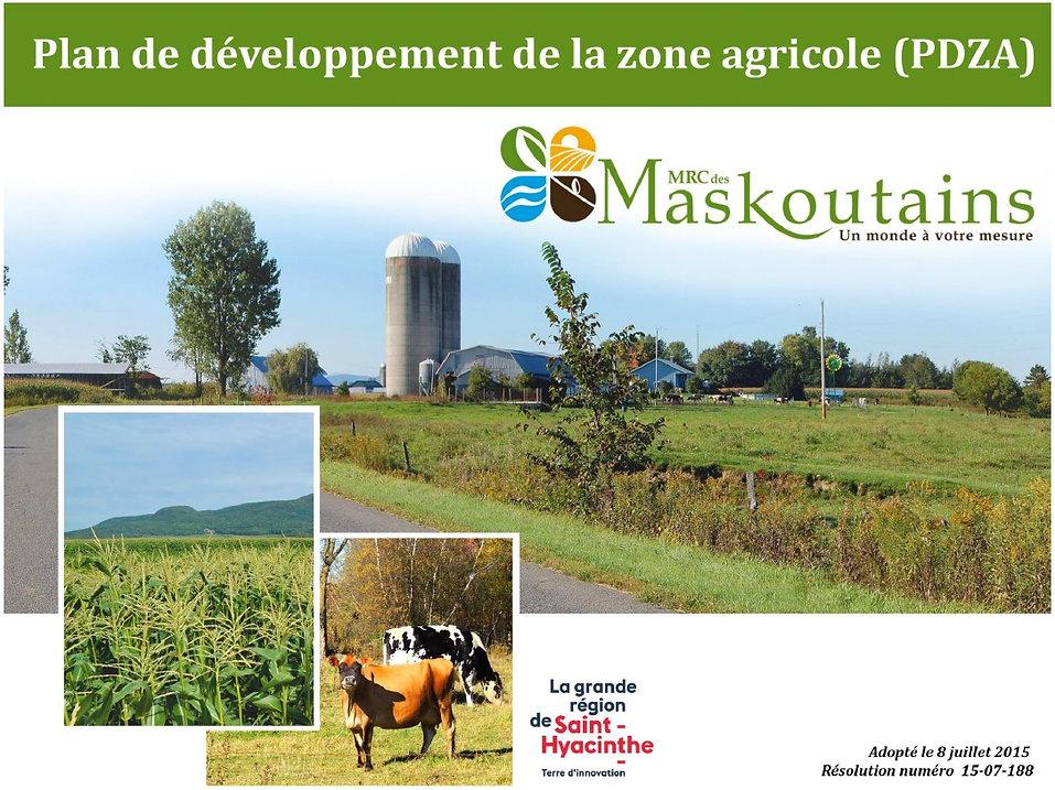 Plan de développement de la zone agricole