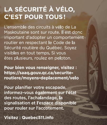 Sécurité à vélo - Québec 511