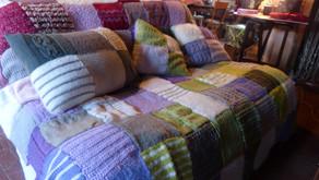 Un plaid au tricot