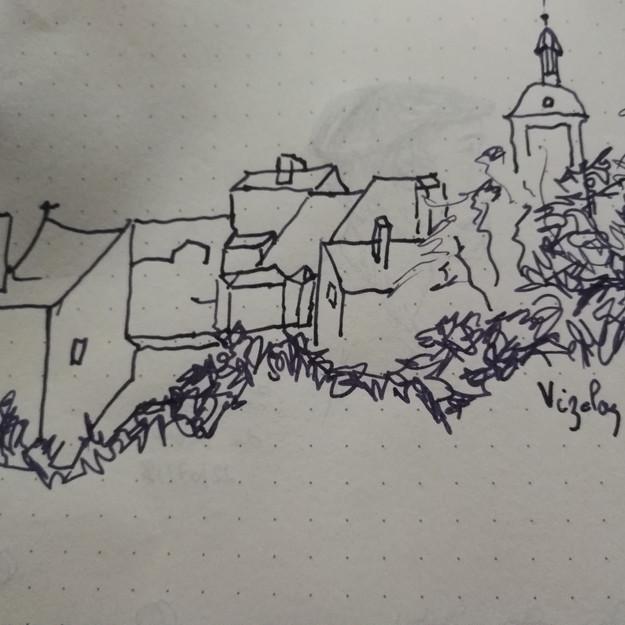 Le village vu d'en bas