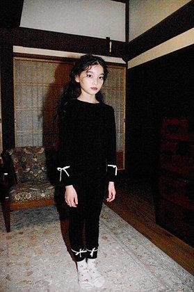 【予約商品】ribbon long sleeved knit tops
