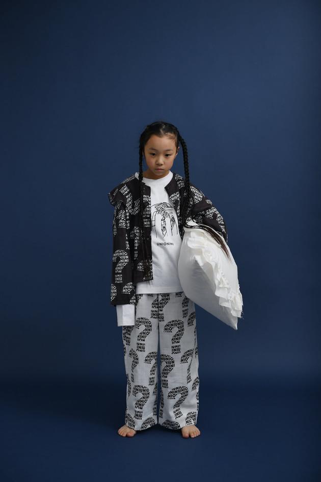 """nazo"" wave collar blouse, ""nazo"" long sleeved tee, ""nazo"" long pants"