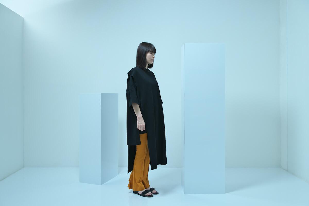 side open dress, omajinai tee, flared frill pants