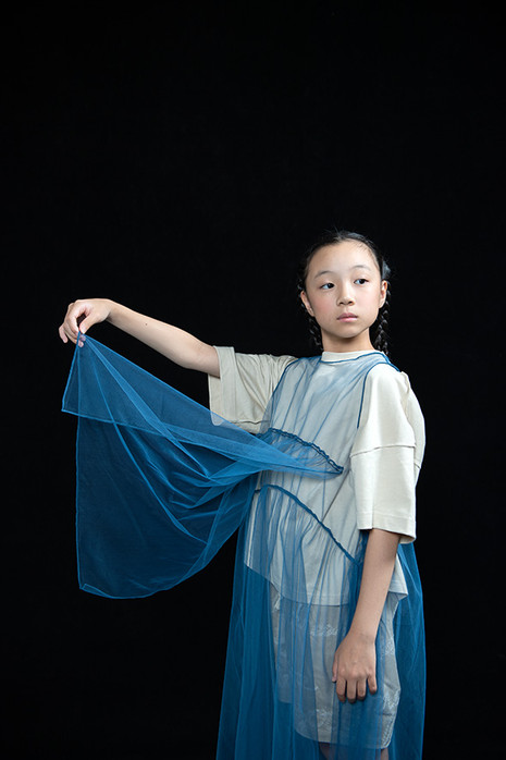 """peace rocket tee, """"WORD"""" tulle long dress, embroidery short pants"""