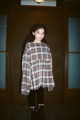 【予約商品】check blouse