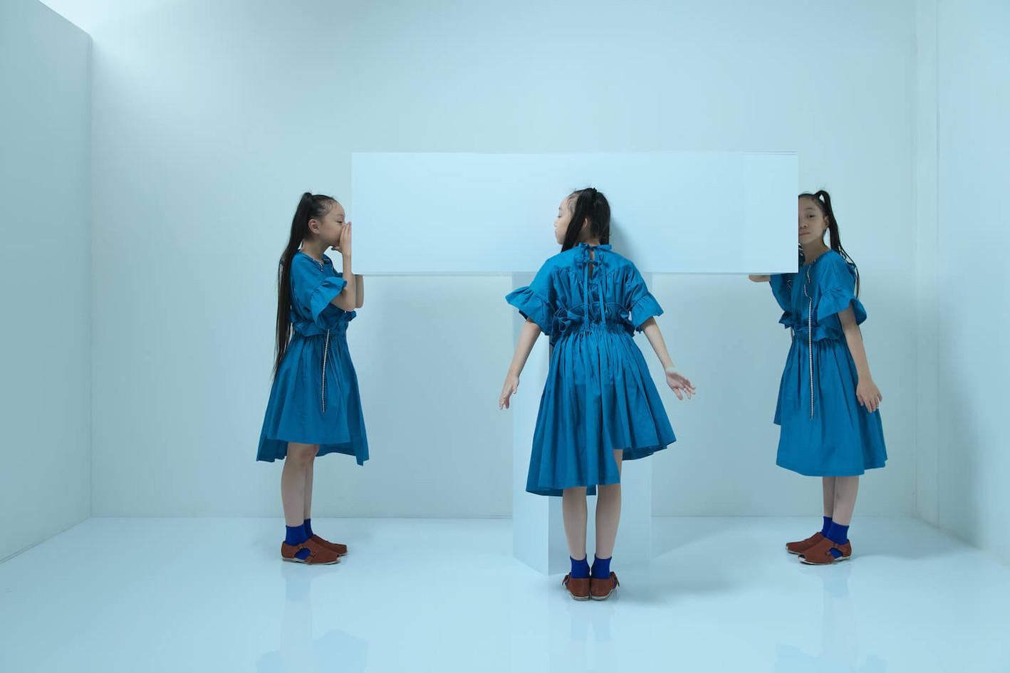 ribbon blouse, ribbon bloomers, double monk strap shoes