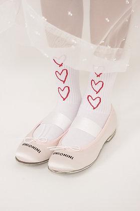 jacquard heart socks