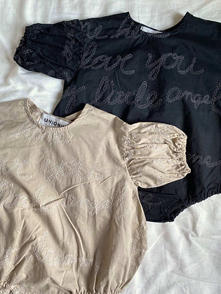 embroidery rompers