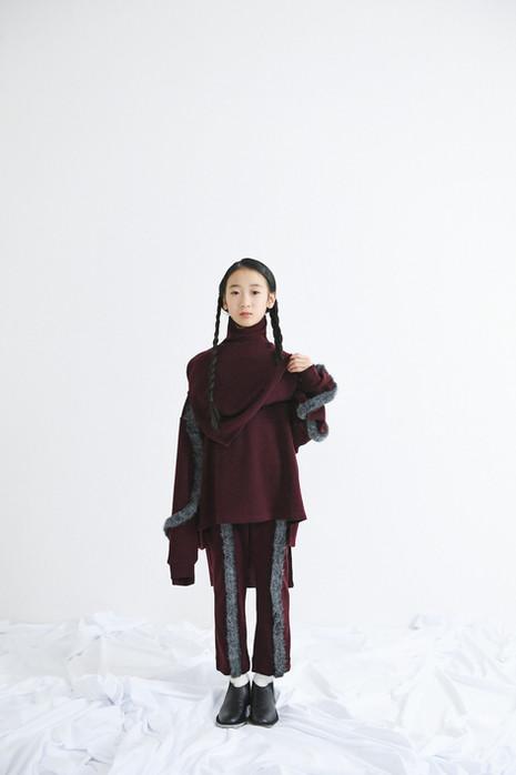 knit vest, knit pullover, knit pants