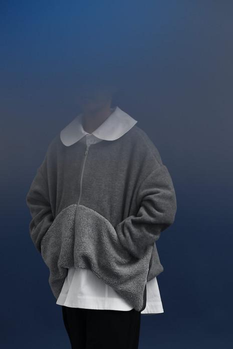 fleece jacket, work jacket, big pants