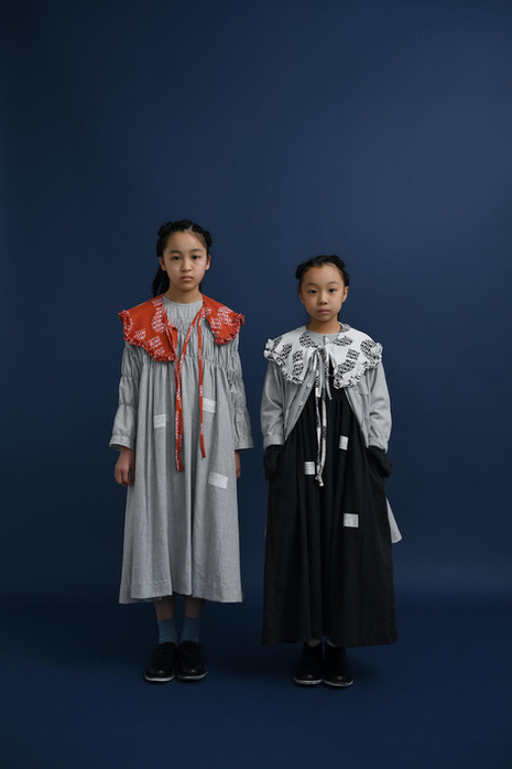 """""""nazo"""" wave frill collar, riddle long dress, riddle long shirt (right only)"""