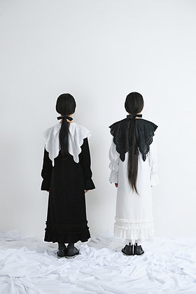 velours frill A line dress