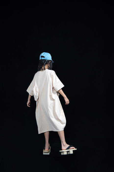 baseball cap, ◯△ tee dress