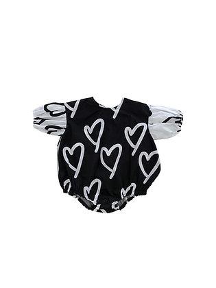 heart print rompers