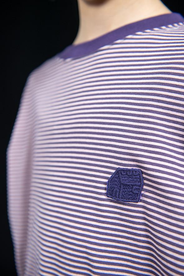 bordered long sleeved tee