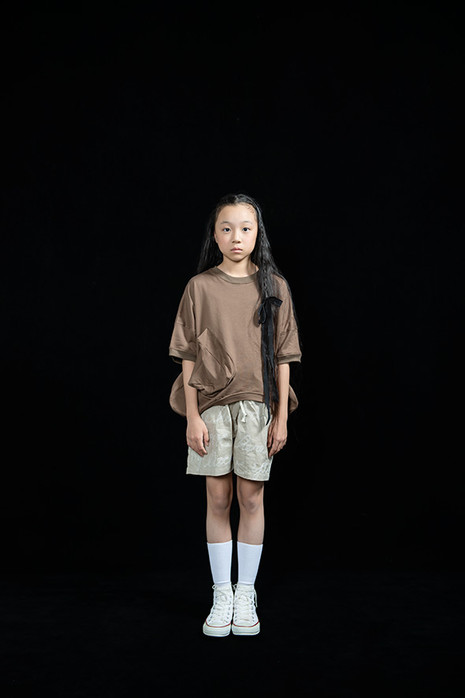 ◯△ tee, embroidery short pants