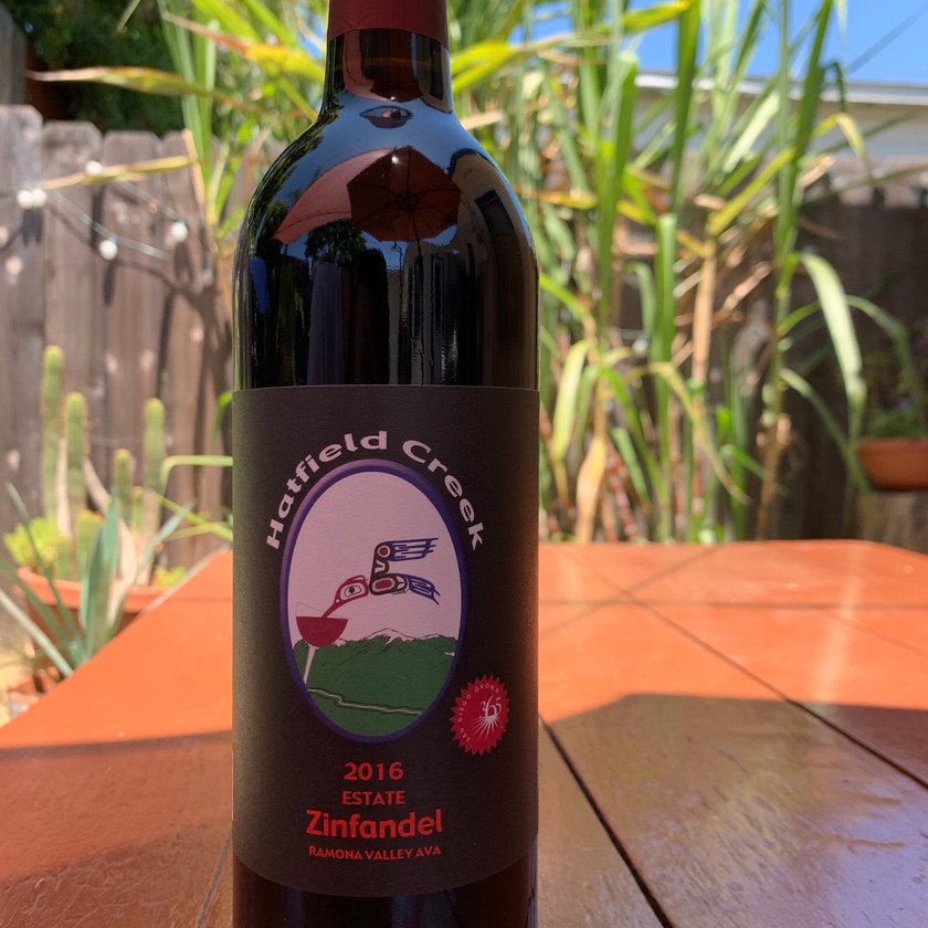 The last case of Cueva Cuvee from Hatfield Creek Vineyards made with a blend of Zinfandel and Petit Syrah