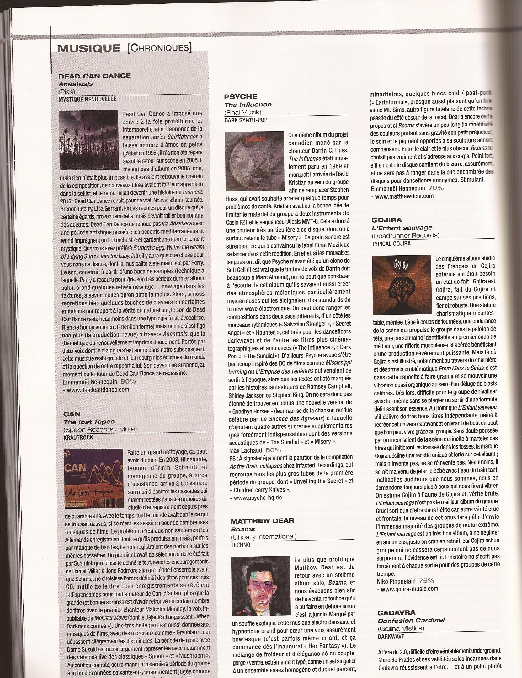Psyche review Obskure Mag 10 2012