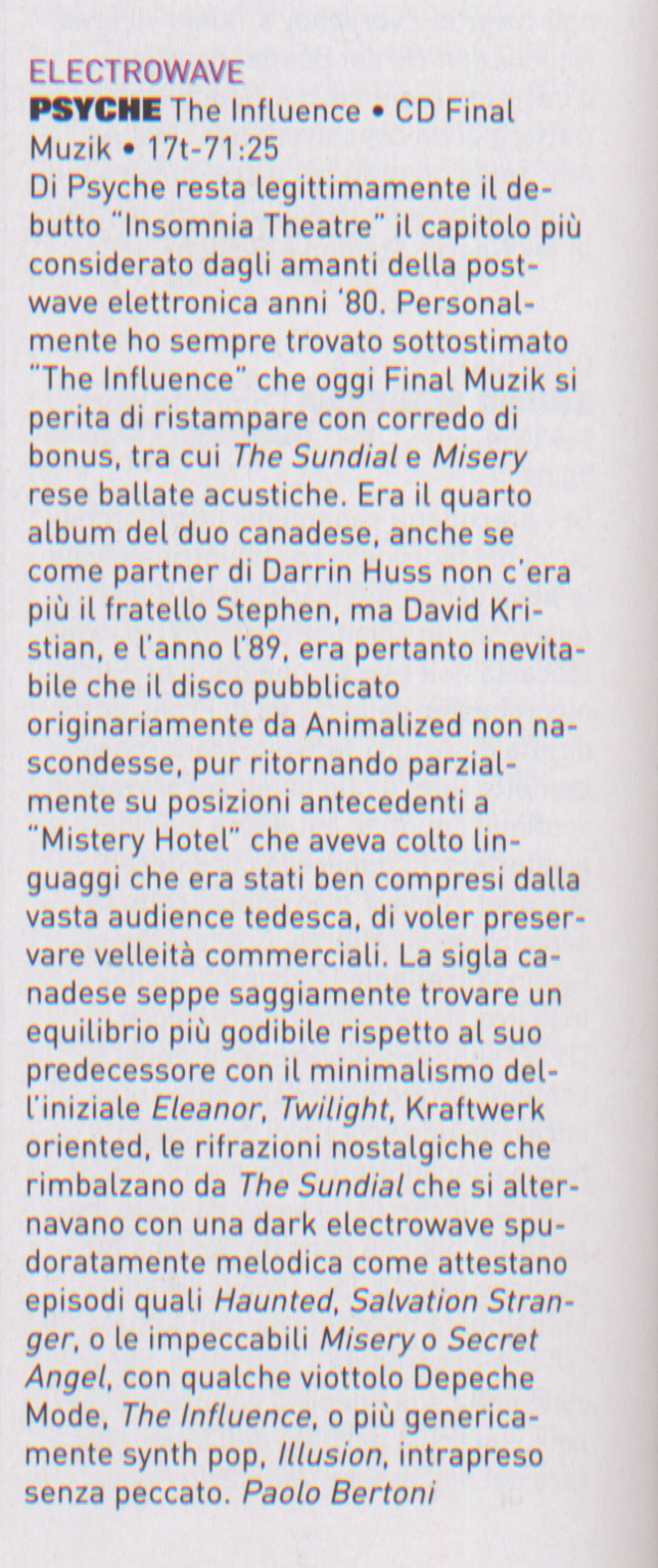 Psyche review Blow Up 170.171 ITALY