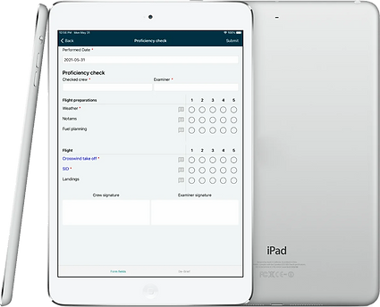 iPad with form