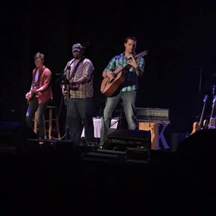 Dustin on stage with Cypress Run