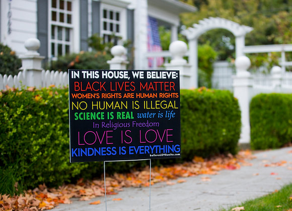 Lawn Signs with imperfections