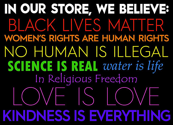 In Our Store, We Believe Poster